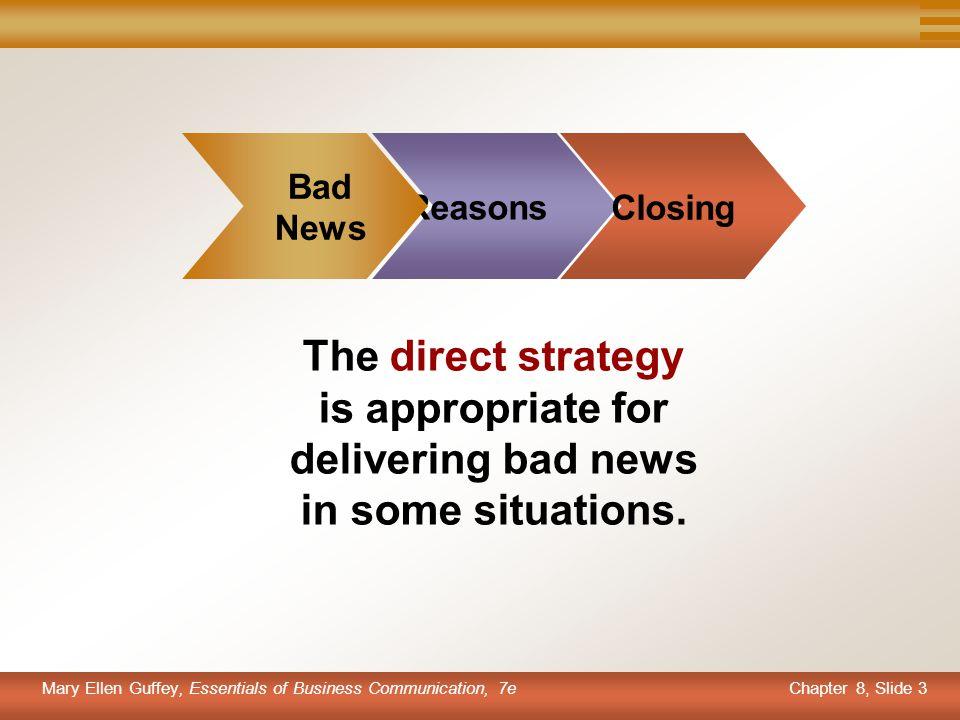 Bad News. Reasons. Closing.