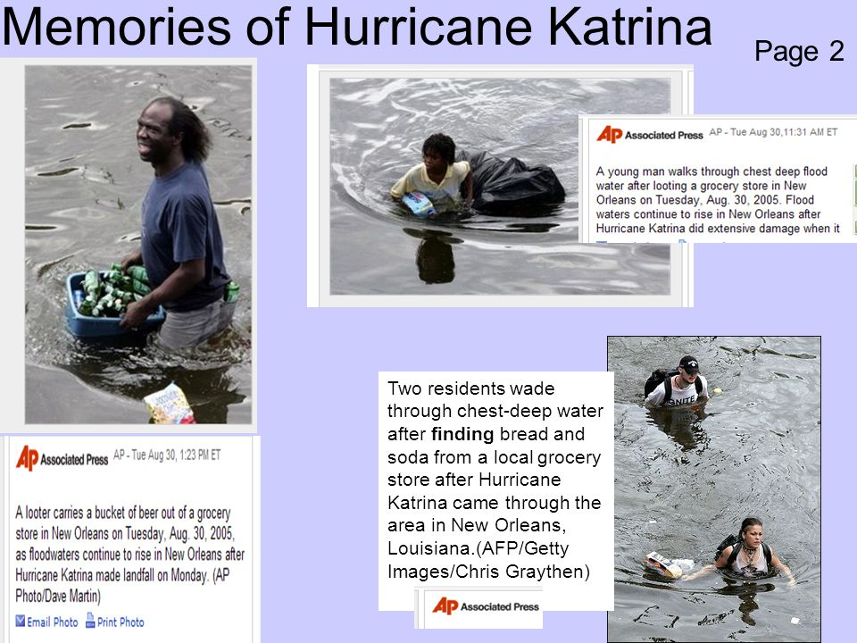 Memories of Hurricane Katrina