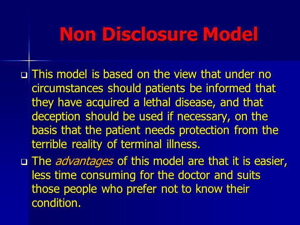 Non Disclosure Model