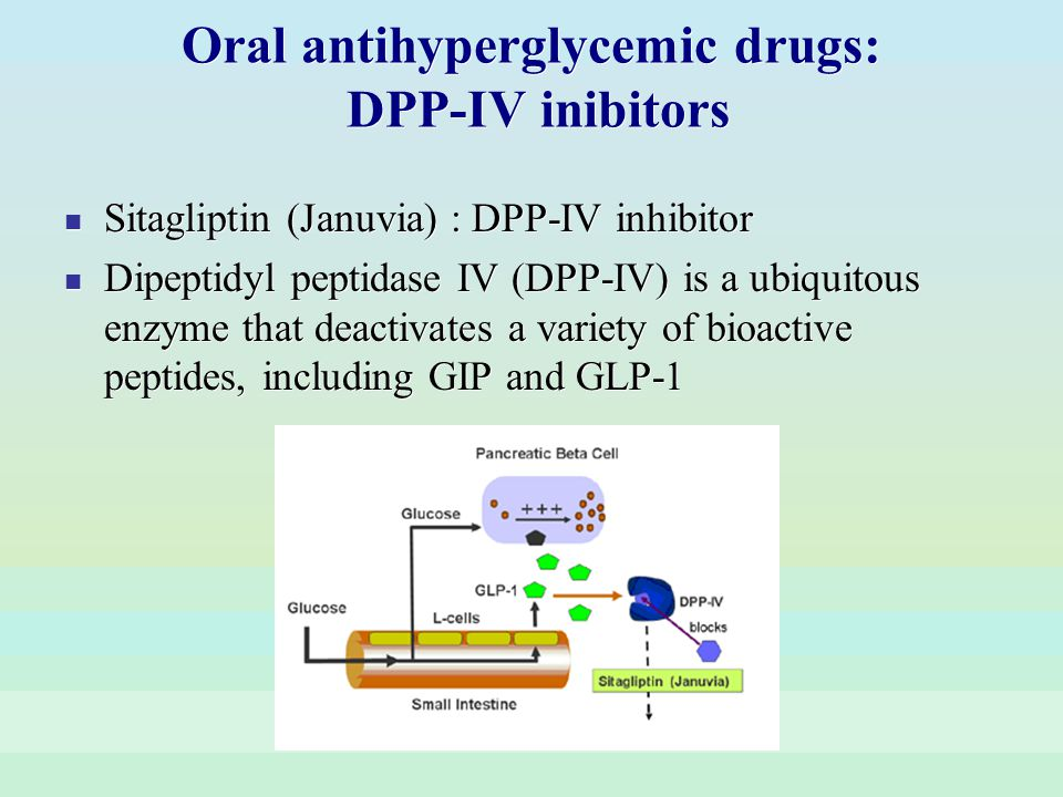 Oral antihyperglycemic drugs: DPP-IV inibitors