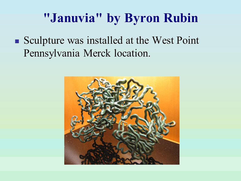Januvia by Byron Rubin Sculpture was installed at the West Point Pennsylvania Merck location.