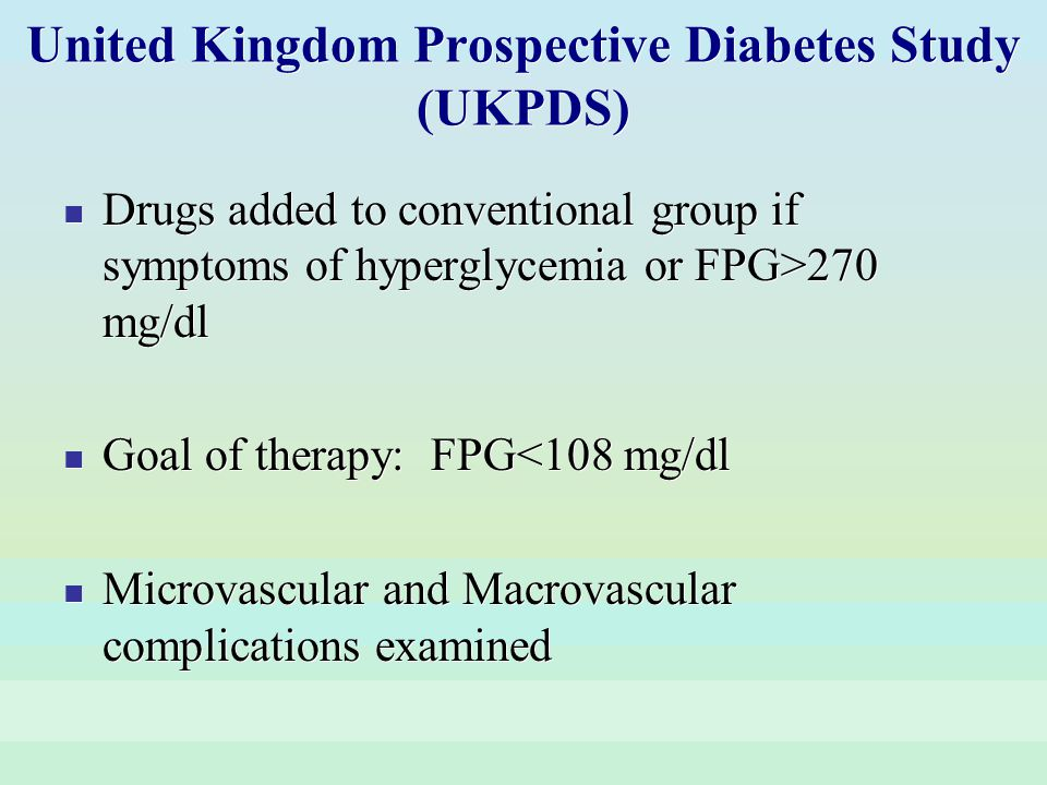 United Kingdom Prospective Diabetes Study (UKPDS)