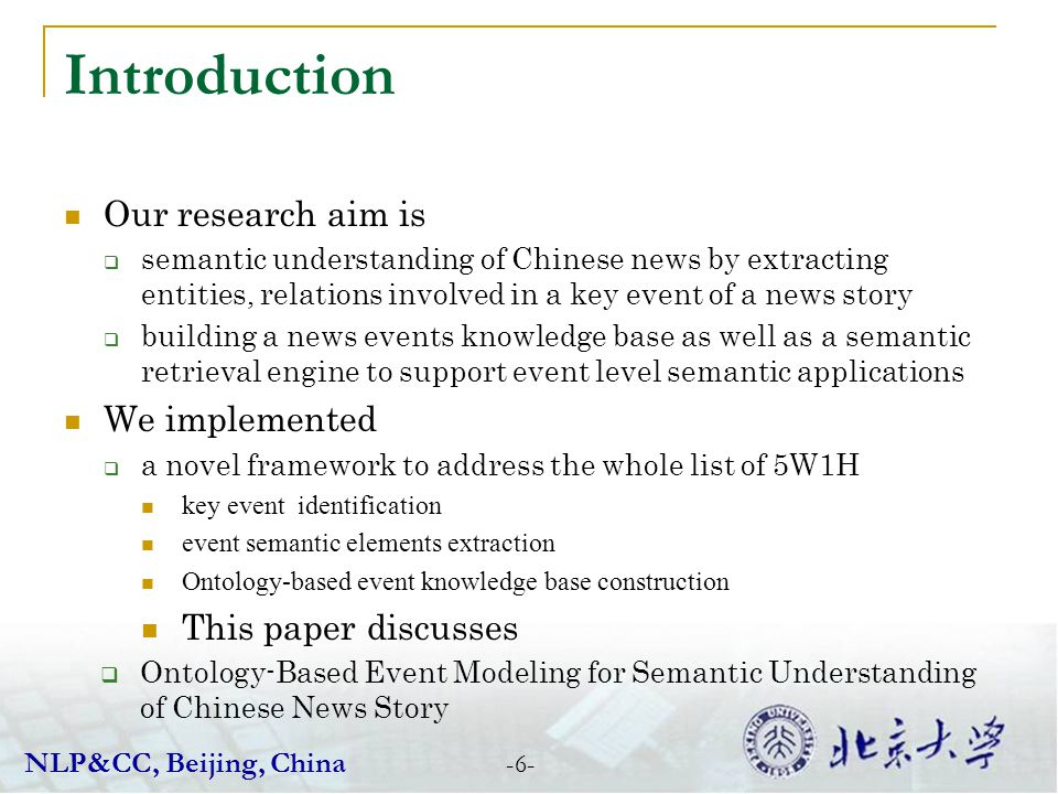 Introduction Our research aim is We implemented This paper discusses