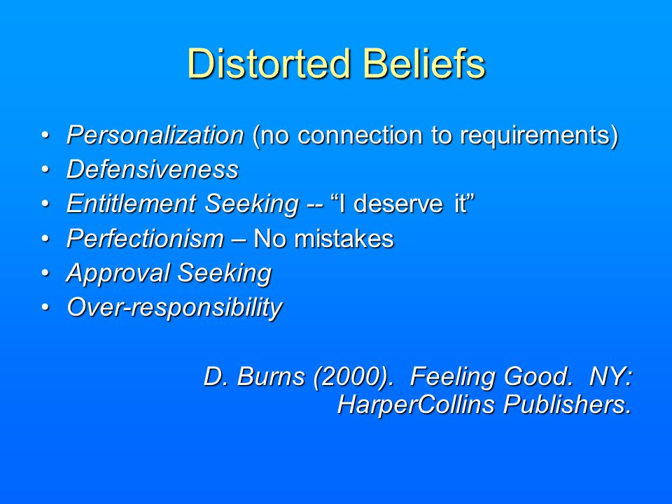 Distorted Beliefs Personalization (no connection to requirements)