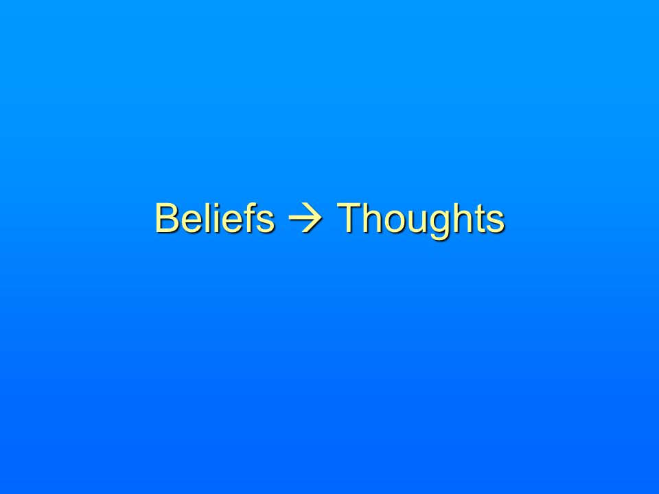 Beliefs  Thoughts