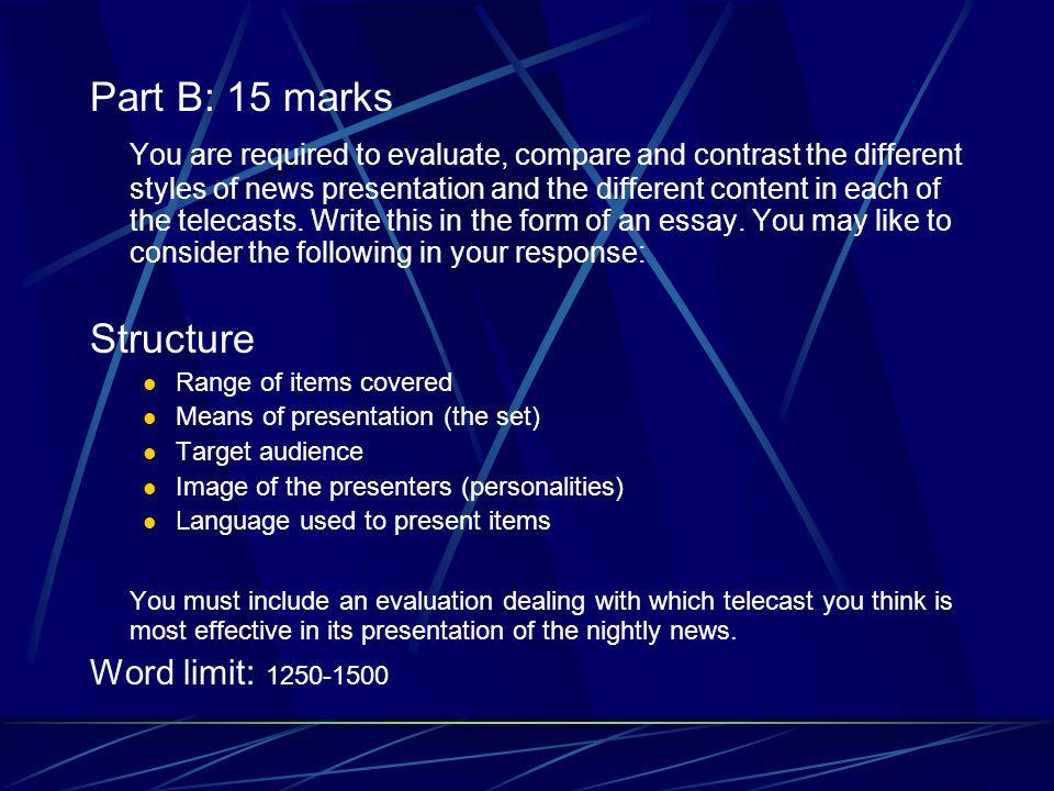 Part B: 15 marks