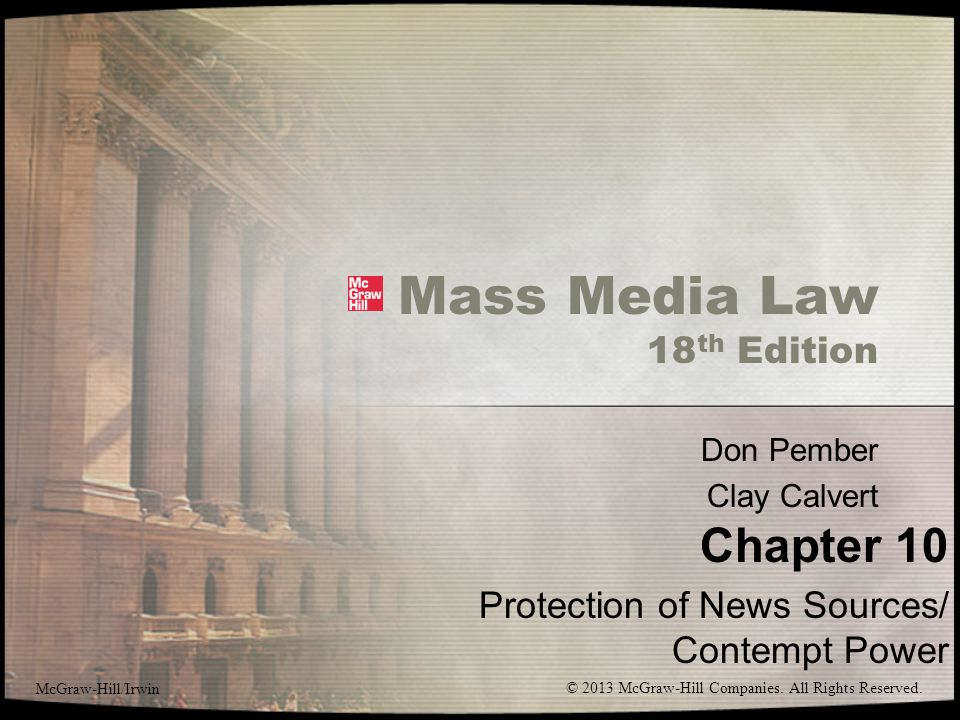 Mass Media Law 18th Edition