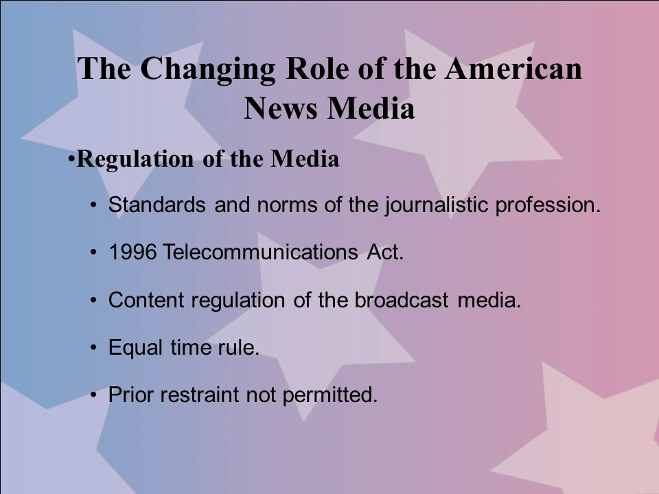 The Changing Role of the American News Media