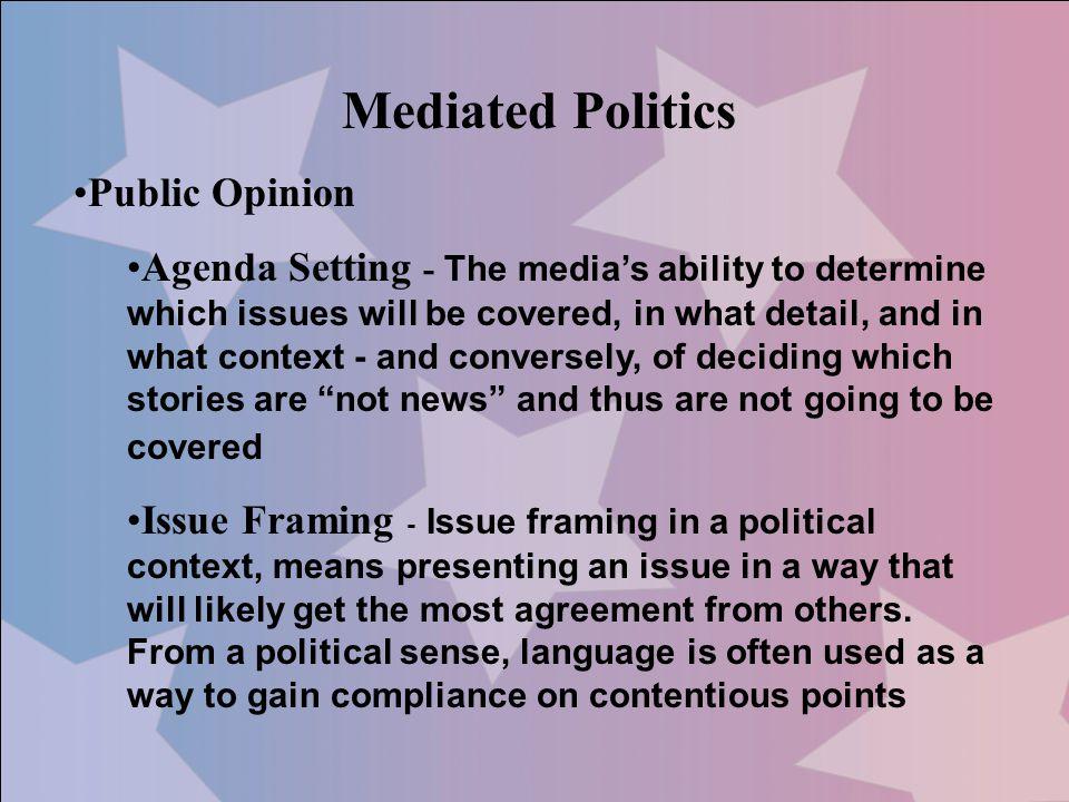 Mediated Politics Public Opinion