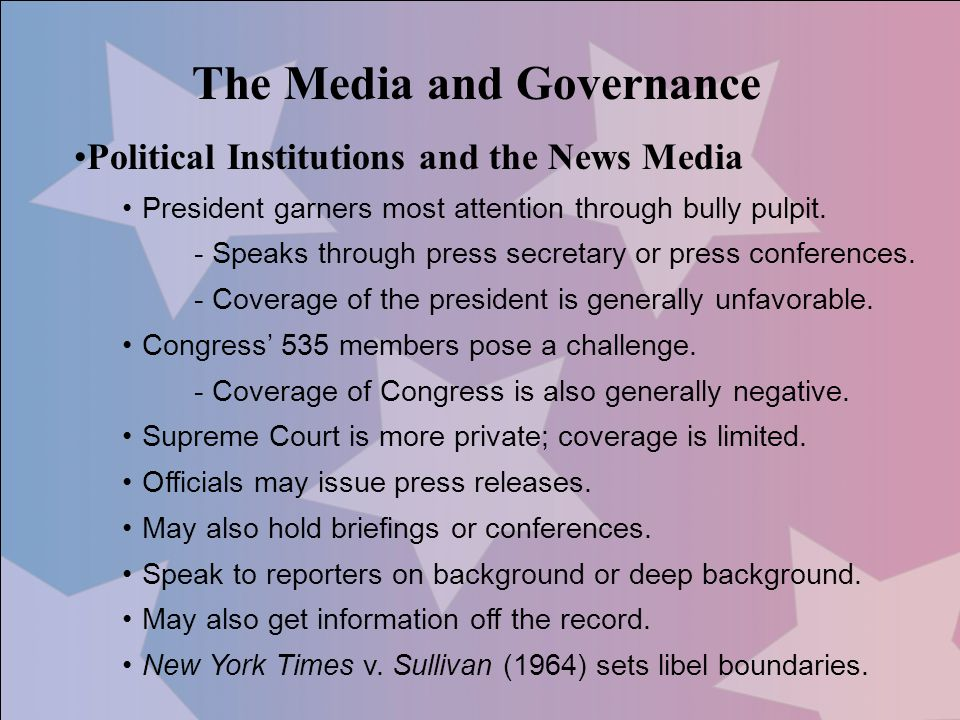 The Media and Governance