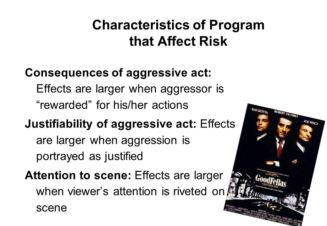 Characteristics of Program that Affect Risk