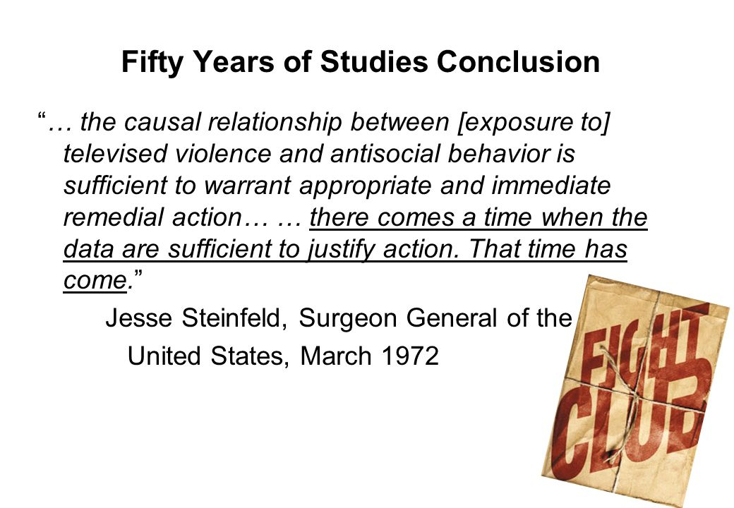 Fifty Years of Studies Conclusion