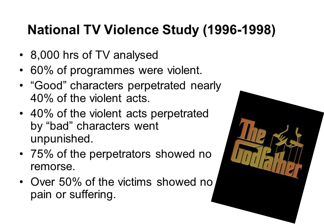National TV Violence Study (1996-1998)