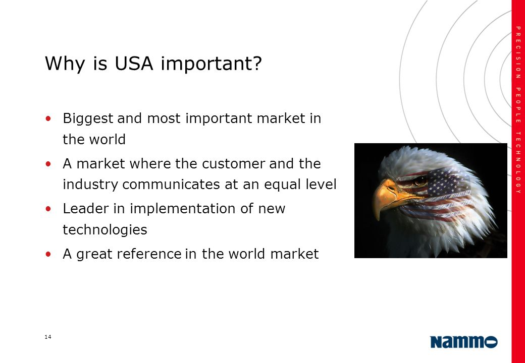 Why is USA important Biggest and most important market in the world