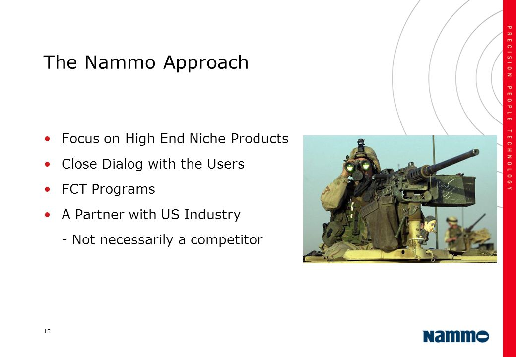 The Nammo Approach Focus on High End Niche Products