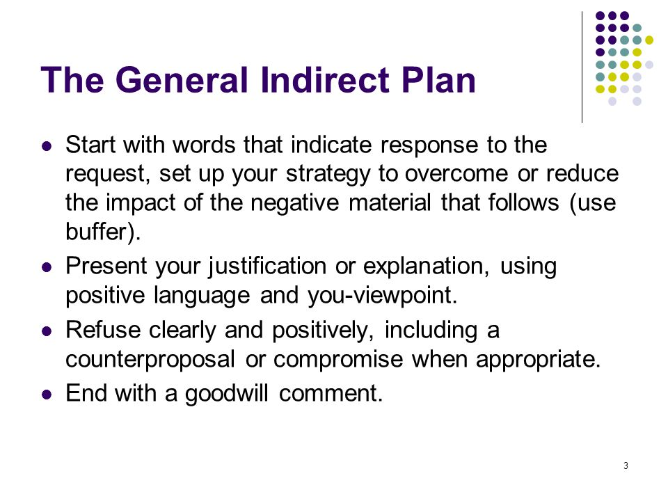 The General Indirect Plan