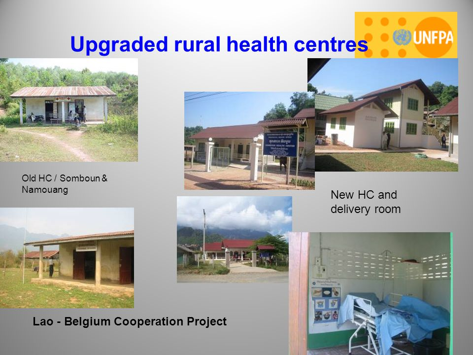 Upgraded rural health centres