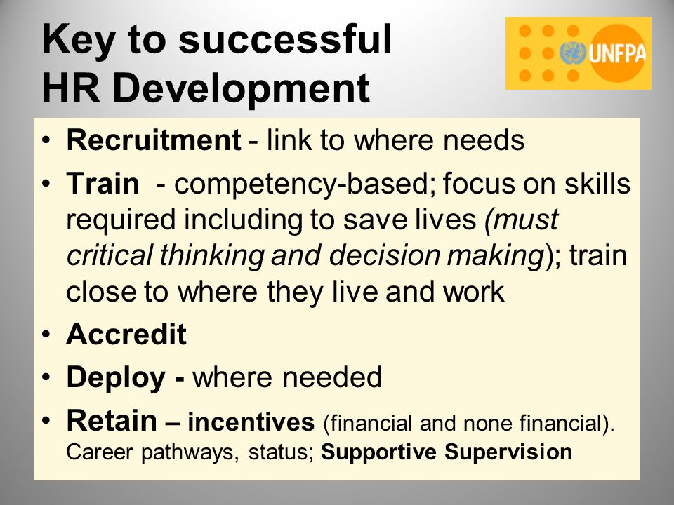 Key to successful HR Development