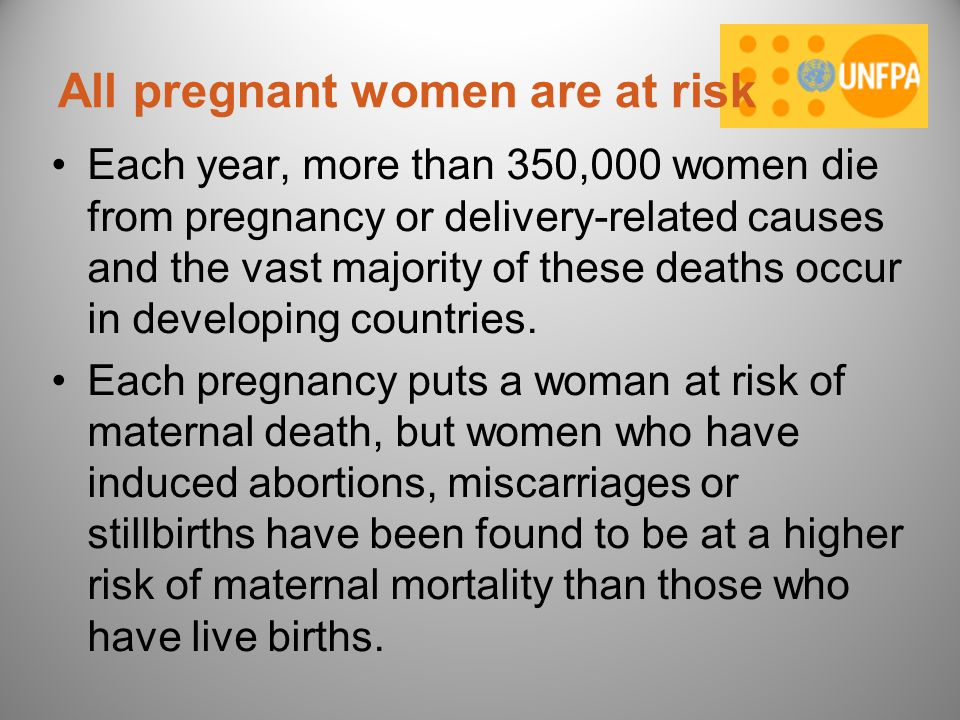 All pregnant women are at risk