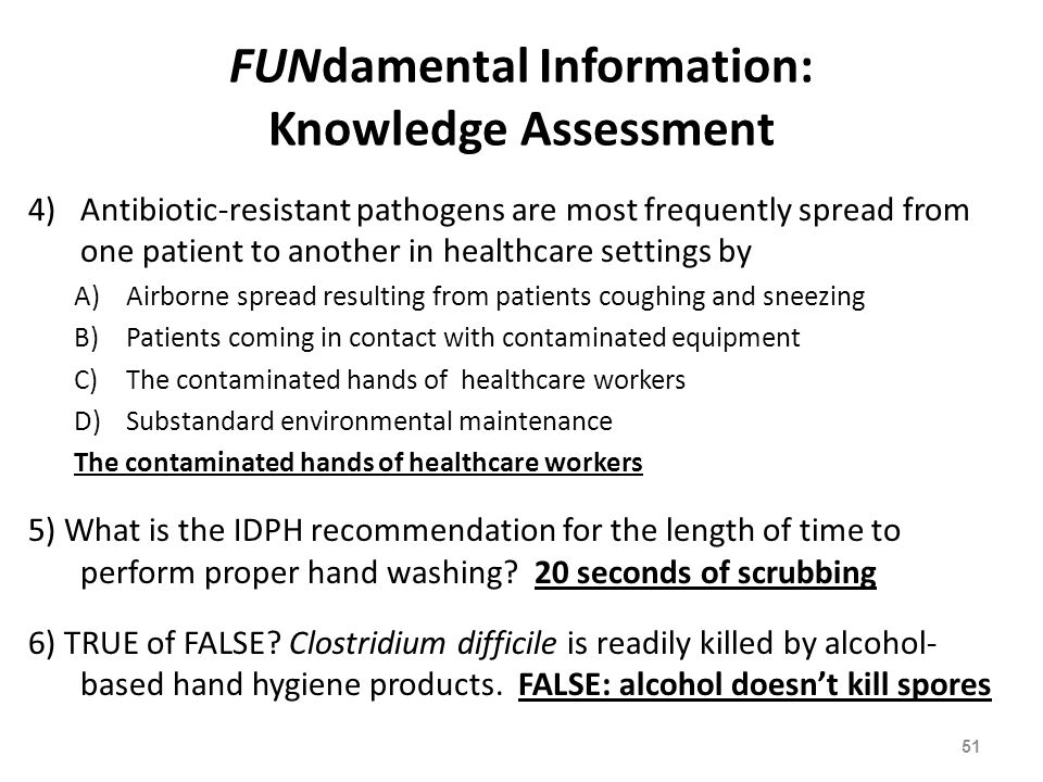 FUNdamental Information: Knowledge Assessment