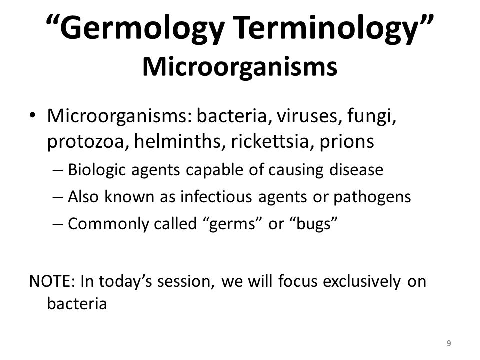 Germology Terminology Microorganisms