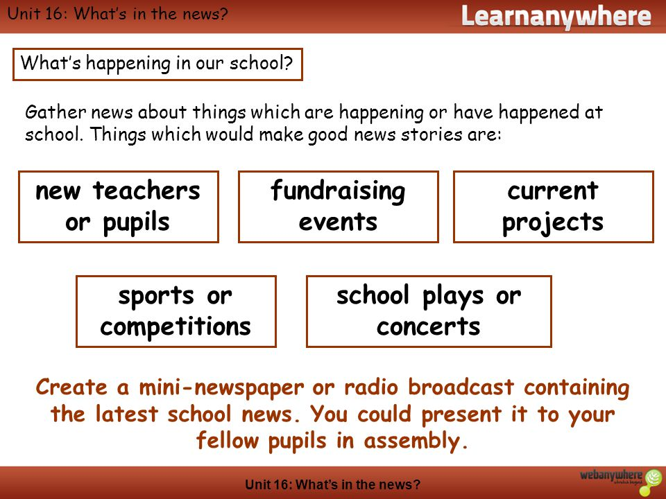sports or competitions school plays or concerts