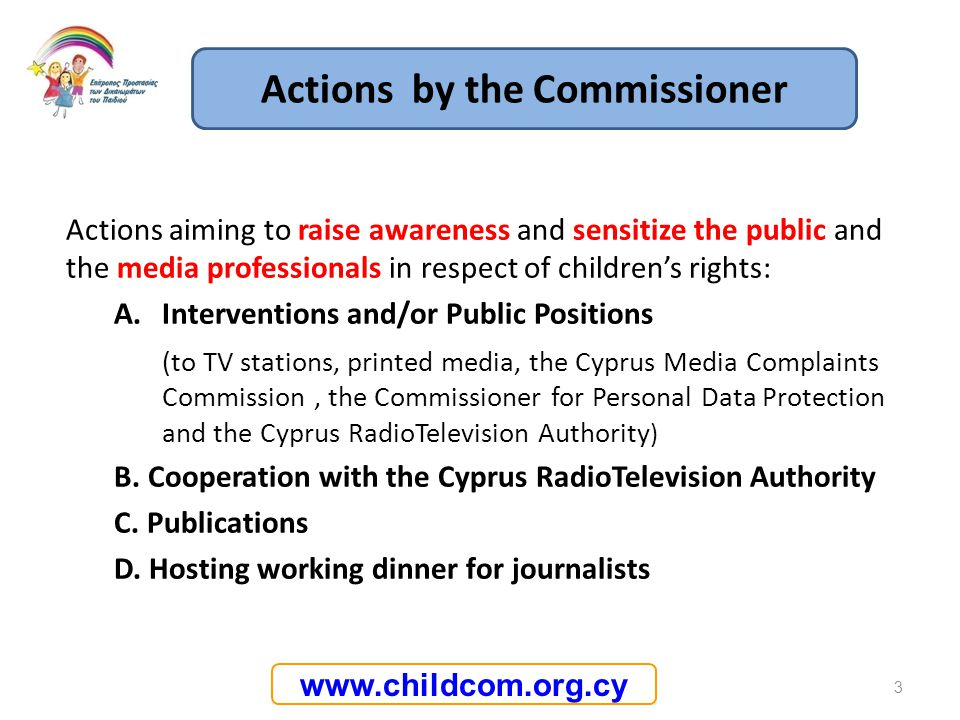 Actions by the Commissioner