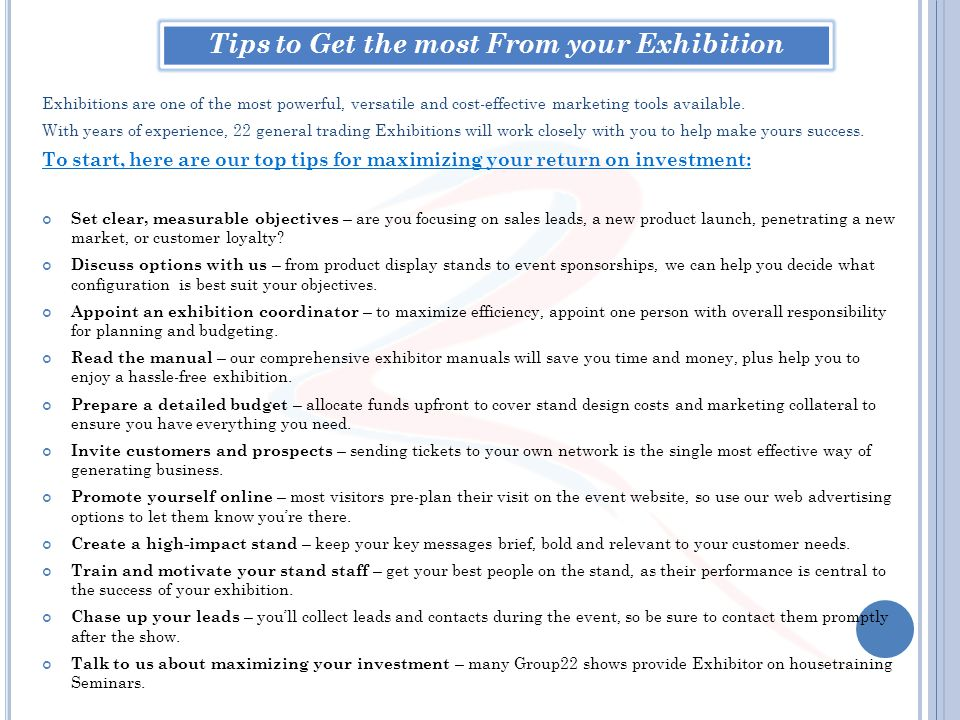 Tips to Get the most From your Exhibition
