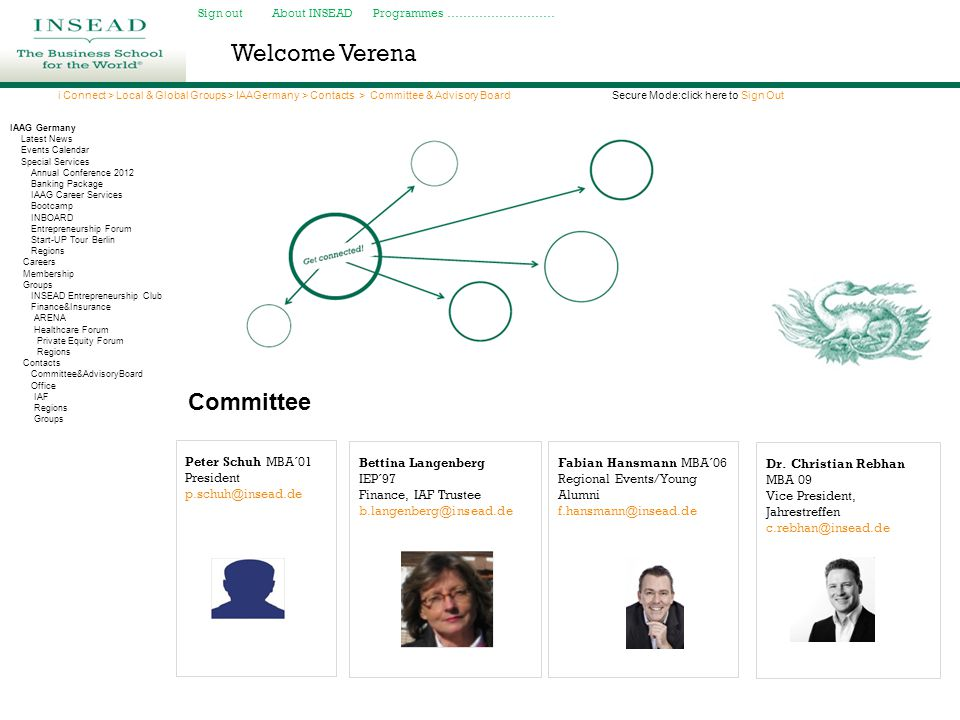 Welcome Verena Committee