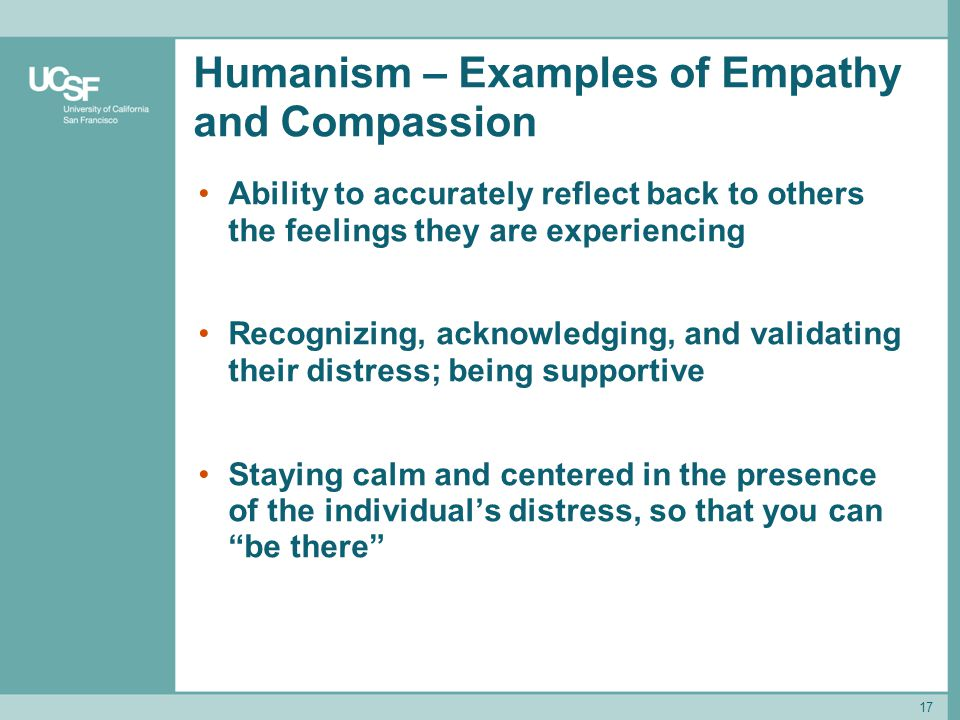 Humanism – Examples of Empathy and Compassion