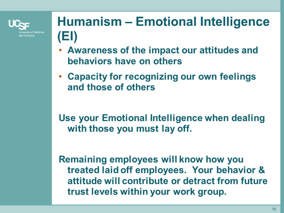 Humanism – Emotional Intelligence (EI)