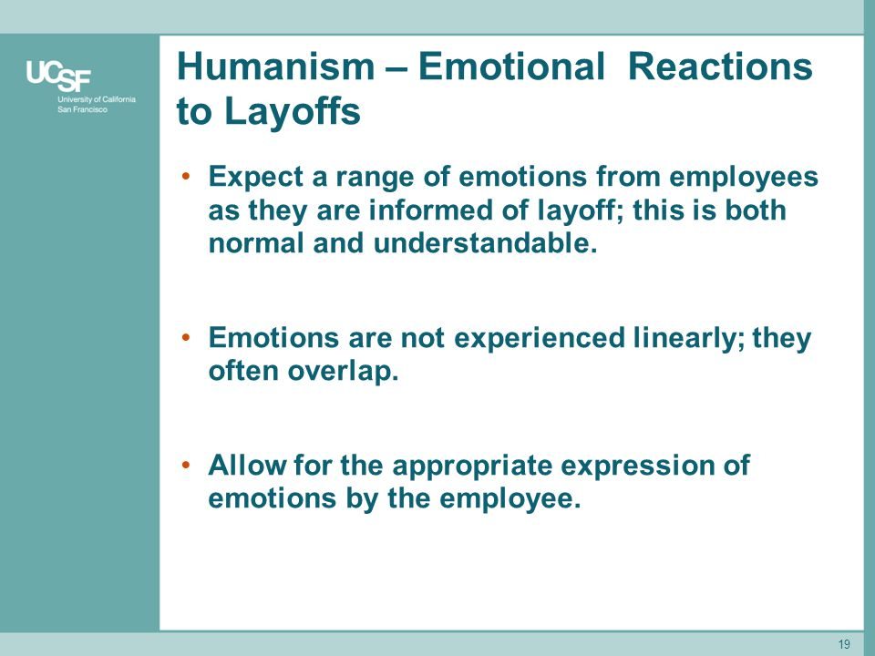 Humanism – Emotional Reactions to Layoffs