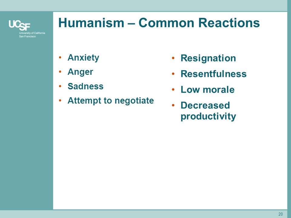 Humanism – Common Reactions