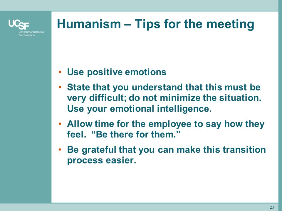Humanism – Tips for the meeting