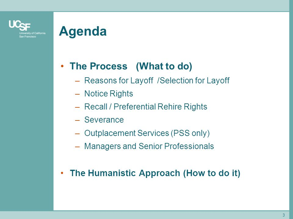 Agenda The Process (What to do) The Humanistic Approach (How to do it)