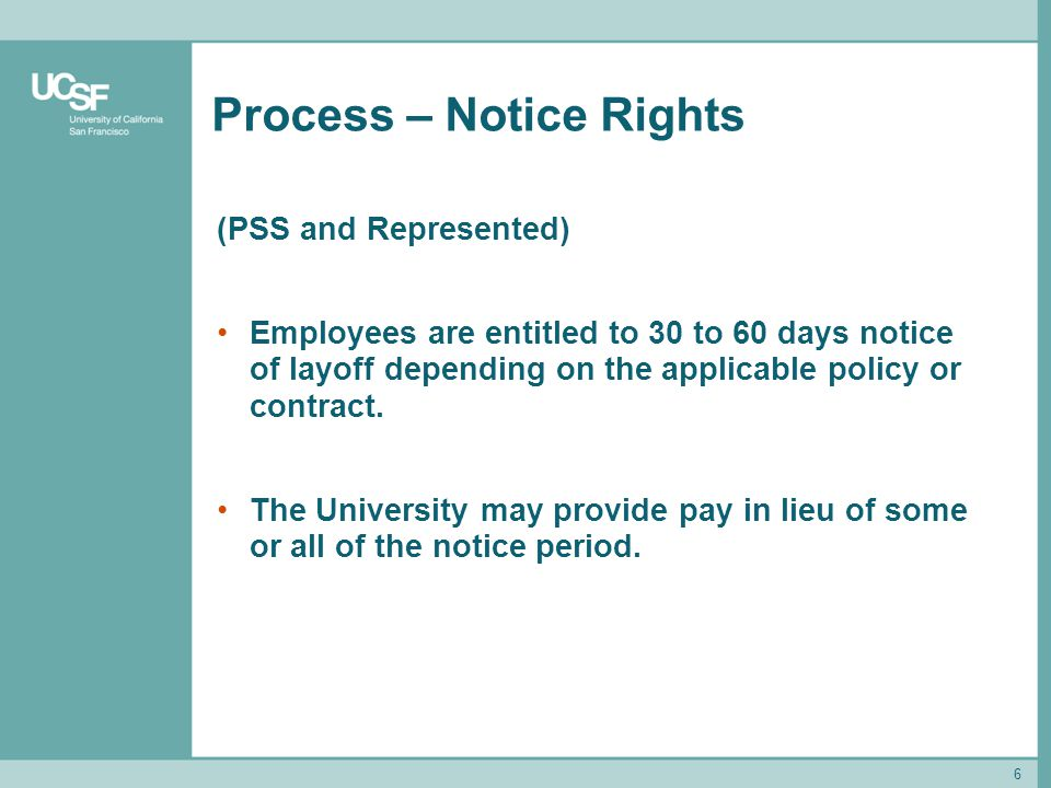 Process – Notice Rights