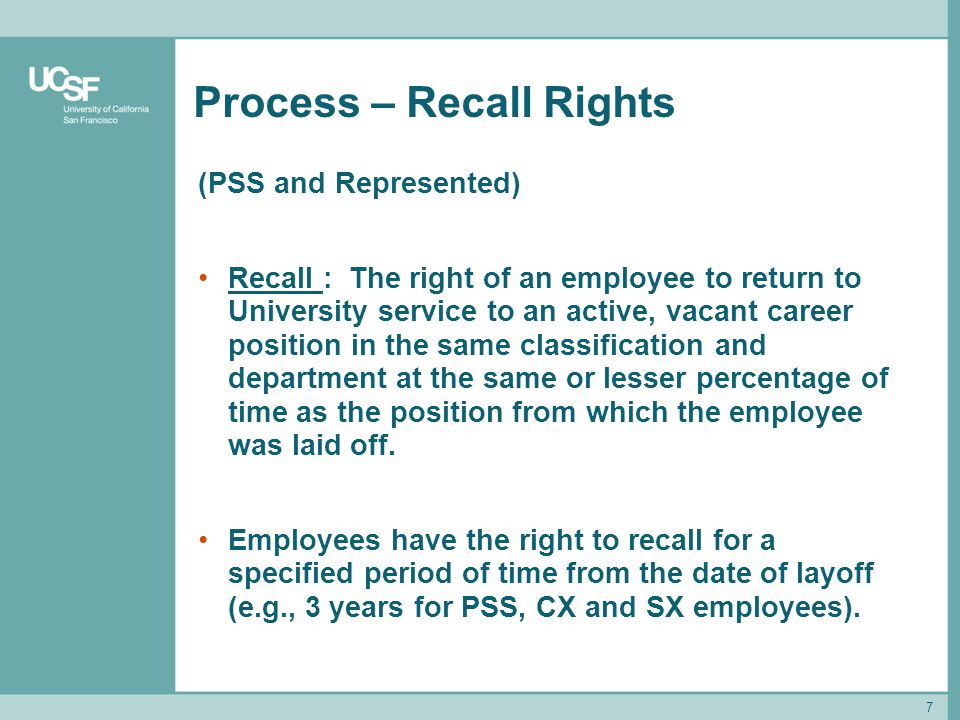 Process – Recall Rights
