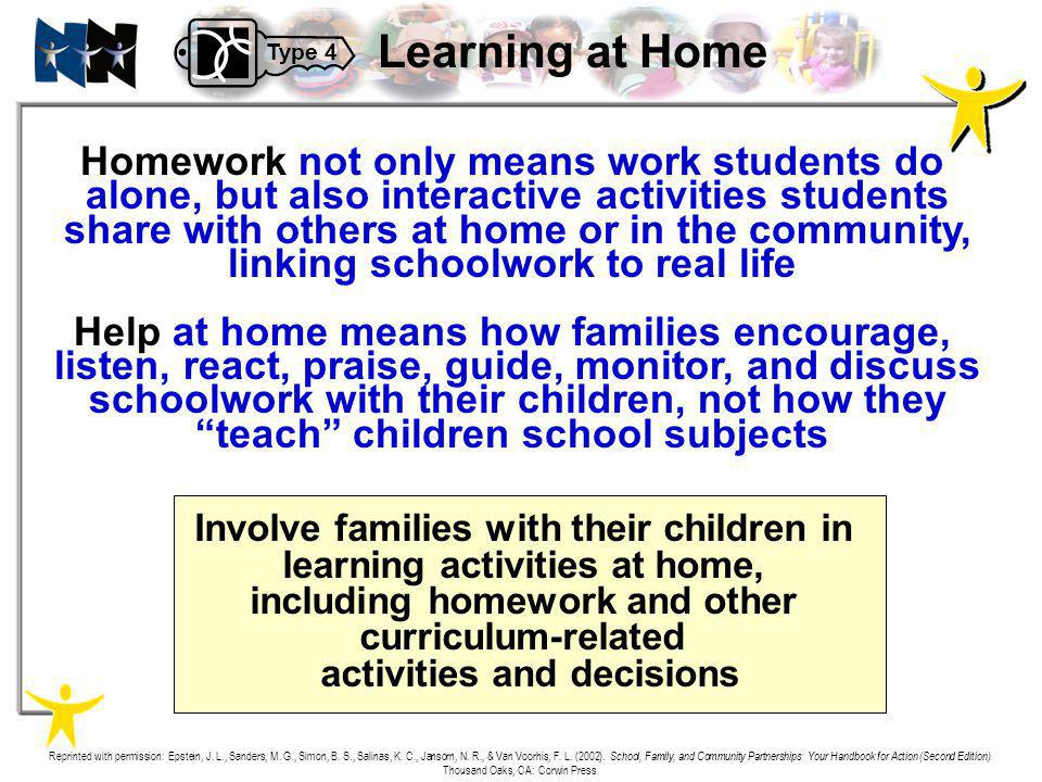 Learning at Home Homework not only means work students do