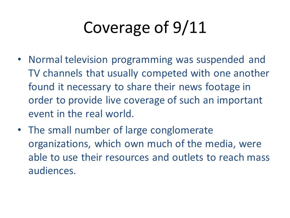 Coverage of 9/11