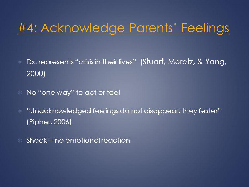 #4: Acknowledge Parents' Feelings