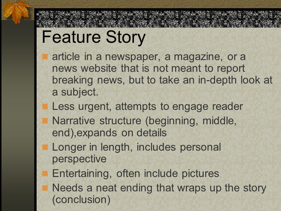Feature Story