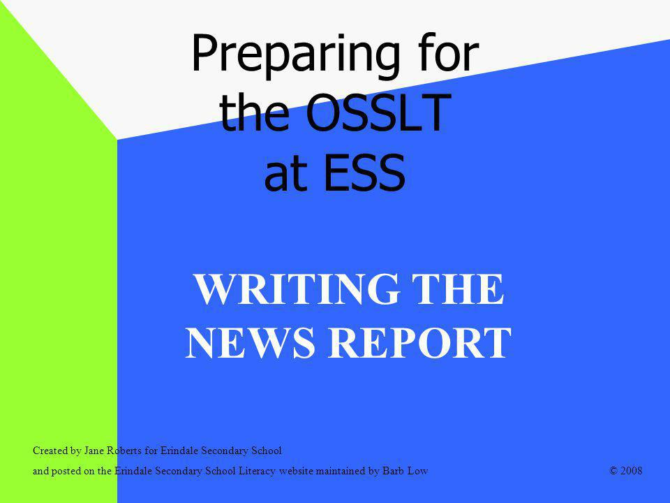Preparing for the OSSLT at ESS