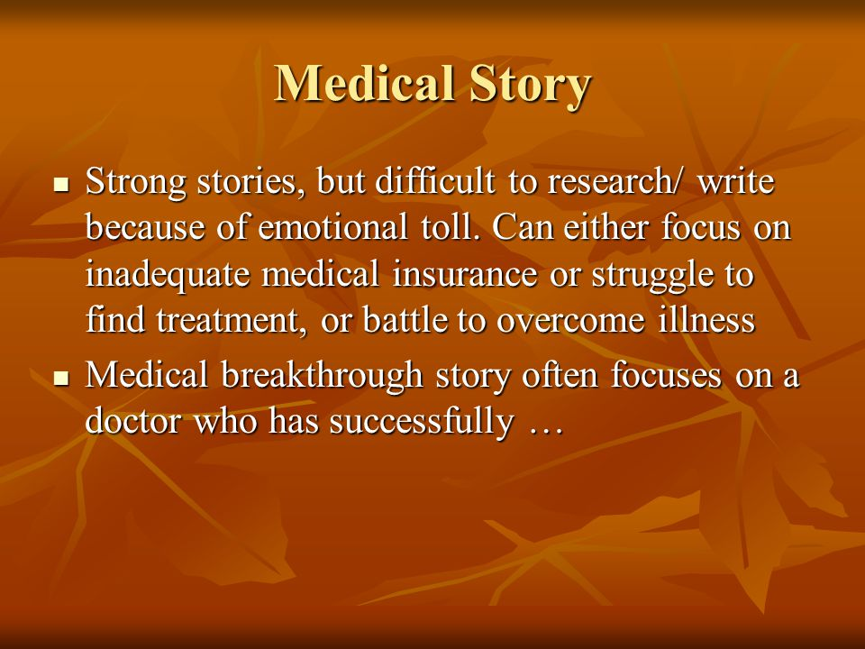 Medical Story