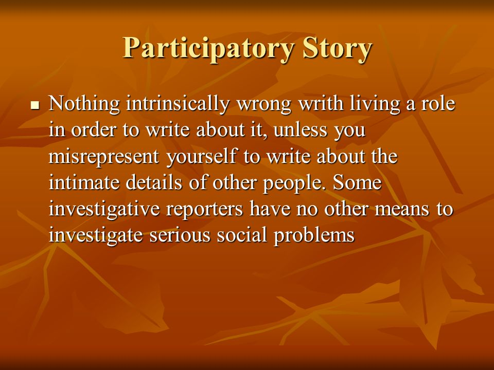 Participatory Story