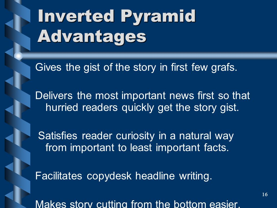 Inverted Pyramid Advantages