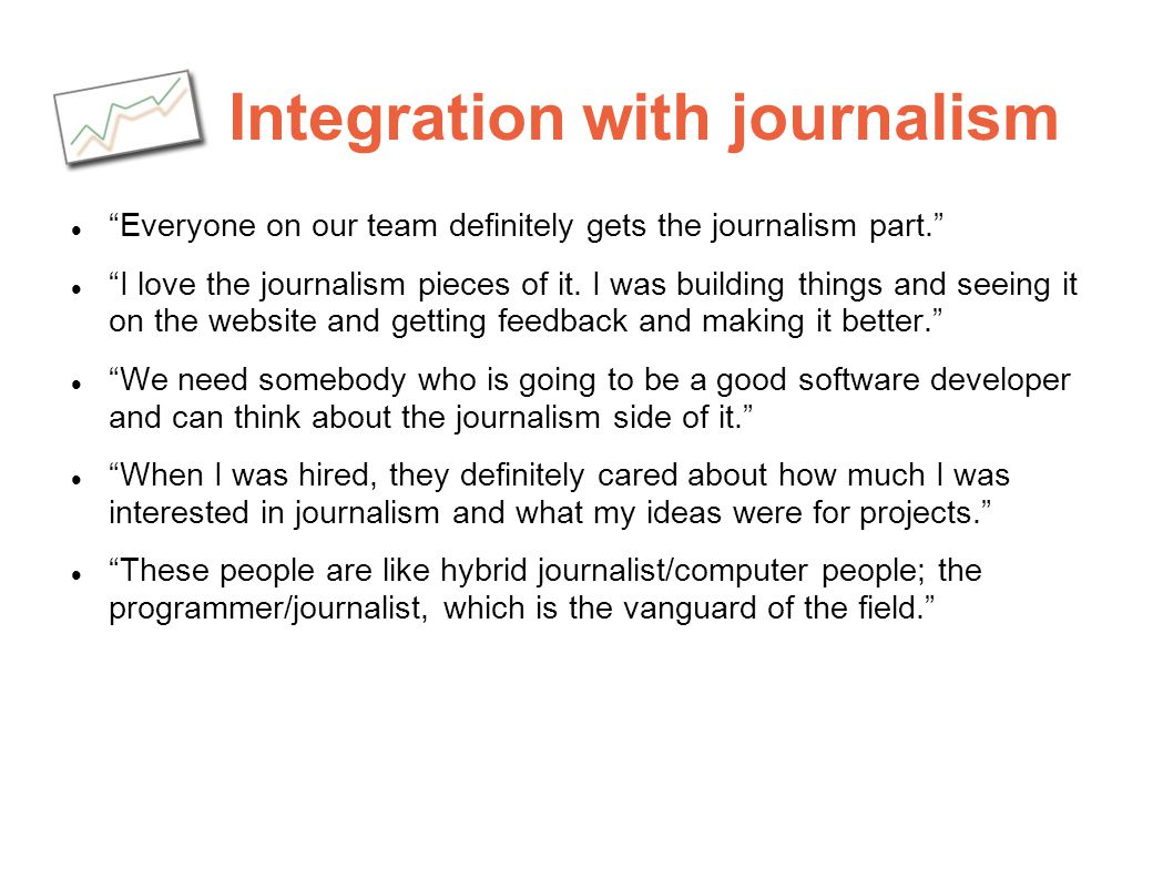 Integration with journalism