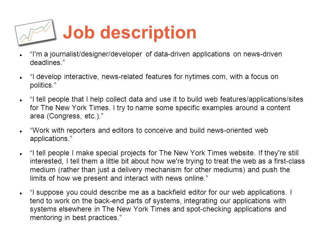 The Journalist as Programmer A Case Study of The New York Times – Web Editor Job Description