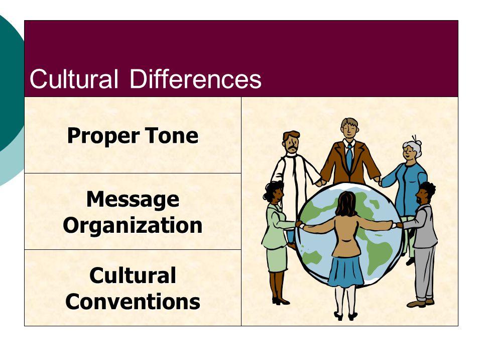 Cultural Differences Proper Tone Message Organization Cultural