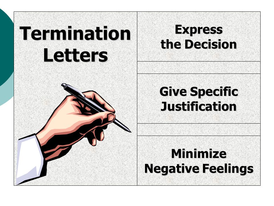 Termination Letters Express the Decision Give Specific Justification