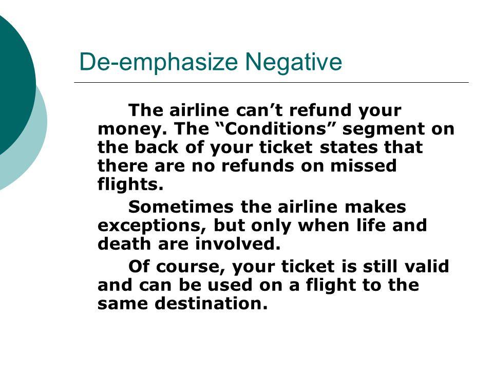 De-emphasize Negative